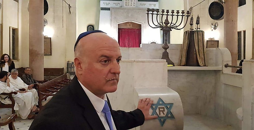 שגריר ישראל בקהיר, דוד גוברין, בטקס ()