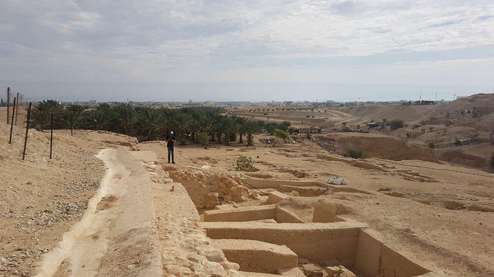 The Hasmonean palaces (Photo: Assaf Kamar)