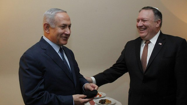 Netanyahu and Pompeo meet in Brussels