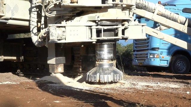 Matériel d'ingénierie pour lutter contre les tunnels (Photo: Porte-parole des FDI)