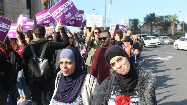 Women's protest in Tel Aviv (Photo: Motti Kimchi)