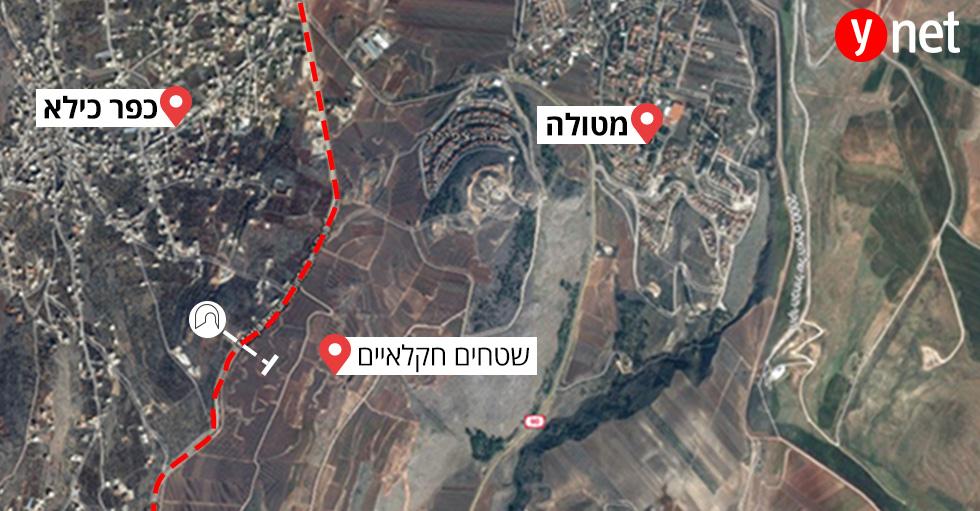מפה גבול לבנון ישראל חיזבאללה לקראת הריסה מבצע מגן צפוני של צה