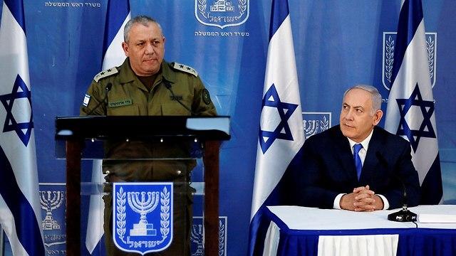 Eisenkot et Netanyahu (Photo: Reuters)