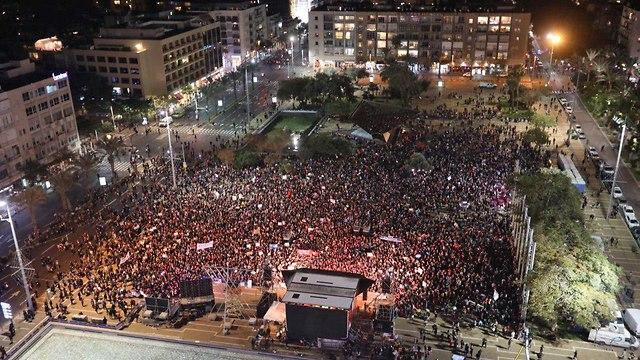 מחאה אלימות נגד נשים בכיכר רבין תל אביב (צילום: נועה מילר)
