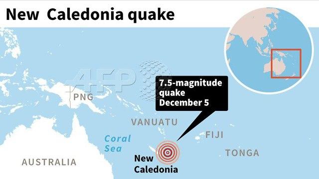 מפת קלונדיה החדשה חשש לצונאמי אחרי רעידת אדמה ()