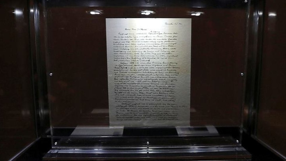 המכתב שכתב איינשטיין (צילום: רויטרס)