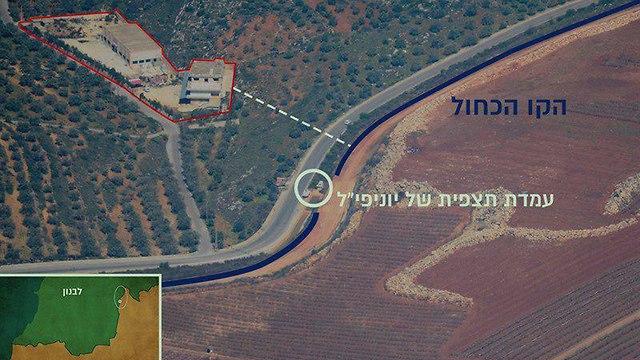 אינפו גרפיקה מנהרות מלבנון לישראל (צילום: דובר צה