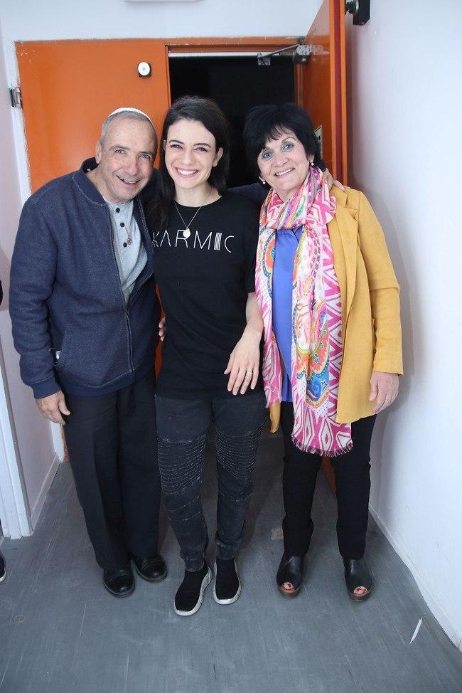 יום הורים. נינט טייב עם אמא מרסל ואבא יוסף (צילום: אור גפן)