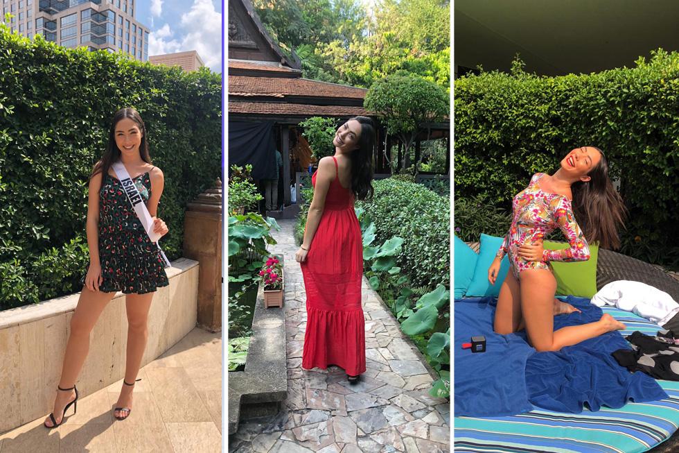 הכי יפה בתאילנד. מלכת היופי לשנת 2018 ניקול רזניקוב בשבוע הראשון בתחרות הבינלאומית. בגד ים: אפרודיטה (צילום: אלבום פרטי)