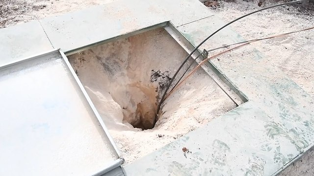 The first tunnel uncovered in Kafr Kela (Photo: IDF Spokesperson's Unit)
