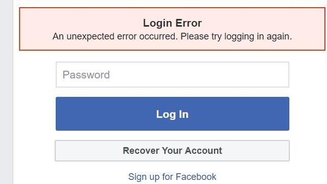פייסבוק תקלה (צילום מסך)
