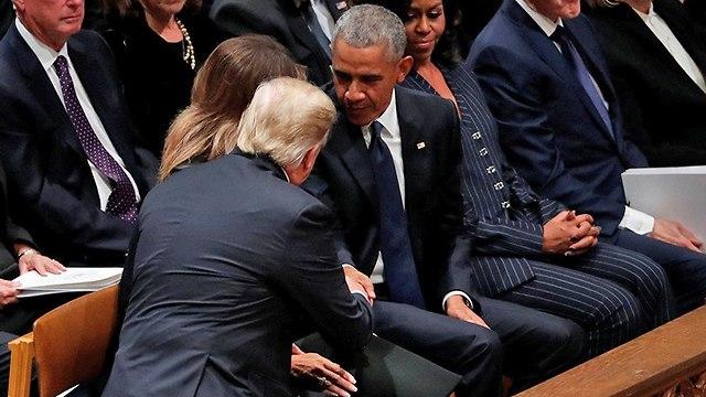 ברק אובמה ודונלד טראמפ (צילום: רויטרס)