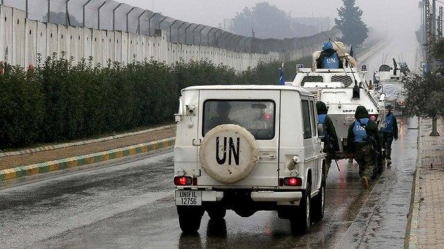 UNIFIL at the Lebanon border (Photo: IDF Spokesman's Office)