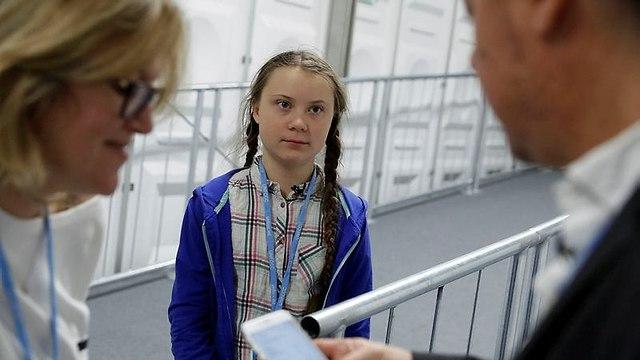 גרטה טונברג, משכה תשומת לב של עיתונאים (צילום: רויטרס)