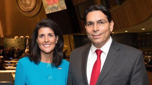 Haley and Israel's UN Ambassador Danny Danon