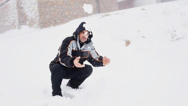 שלג בחרמון (צילום: אביהו שפירא)
