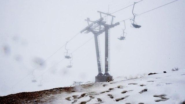Снег на Хермоне. Фото: Авиягу Шапира
