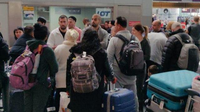 Пассажиры отложенного рейса