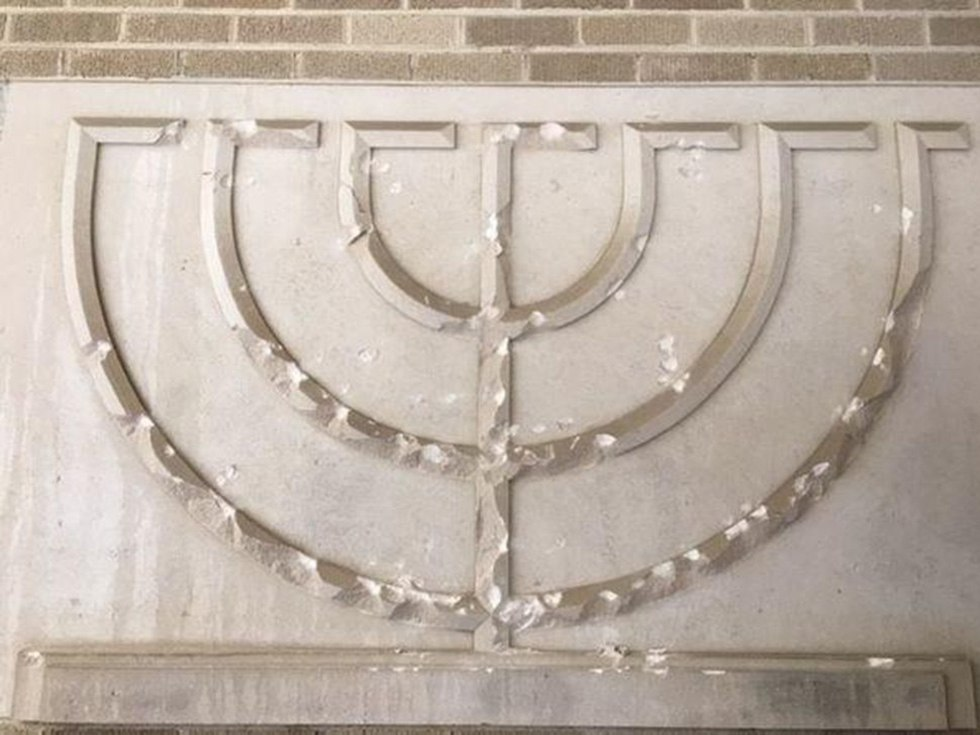 Menorah vandalized at Michigan synagogue (Photo: WWMT)