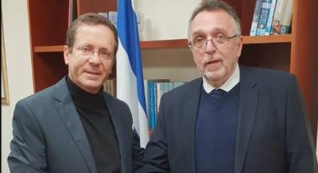Ицак Герцог с главой еврейской общины Венгрии. Фото: пресс-служба Сохнута