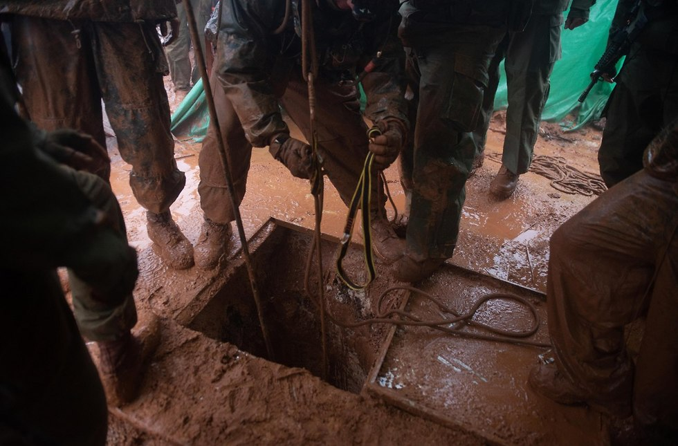 IDF forces uncovered tunnel on the Lebanon border (Photo: IDF Spokesman's Office)