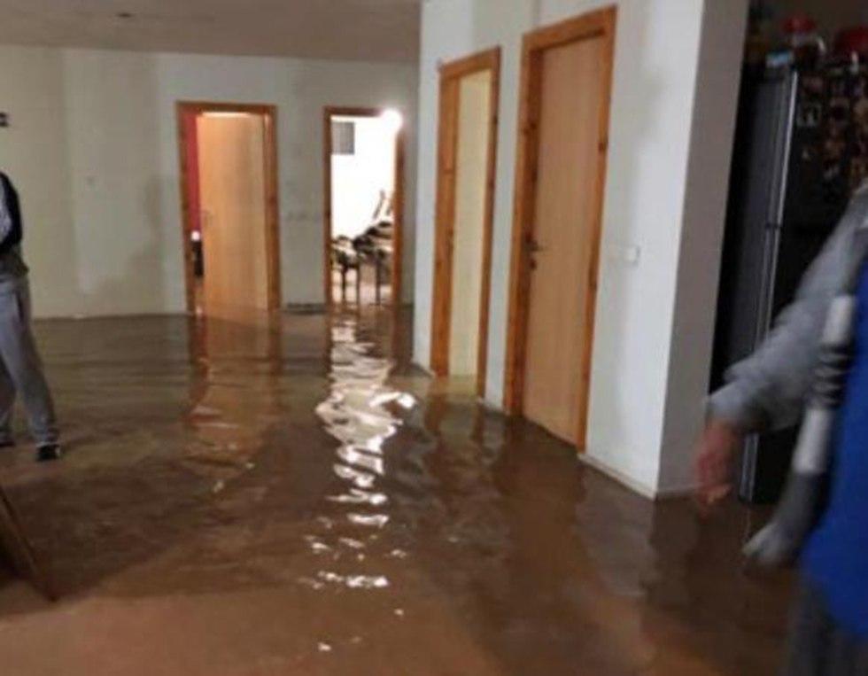 Затопление жилого дома в Тайбе