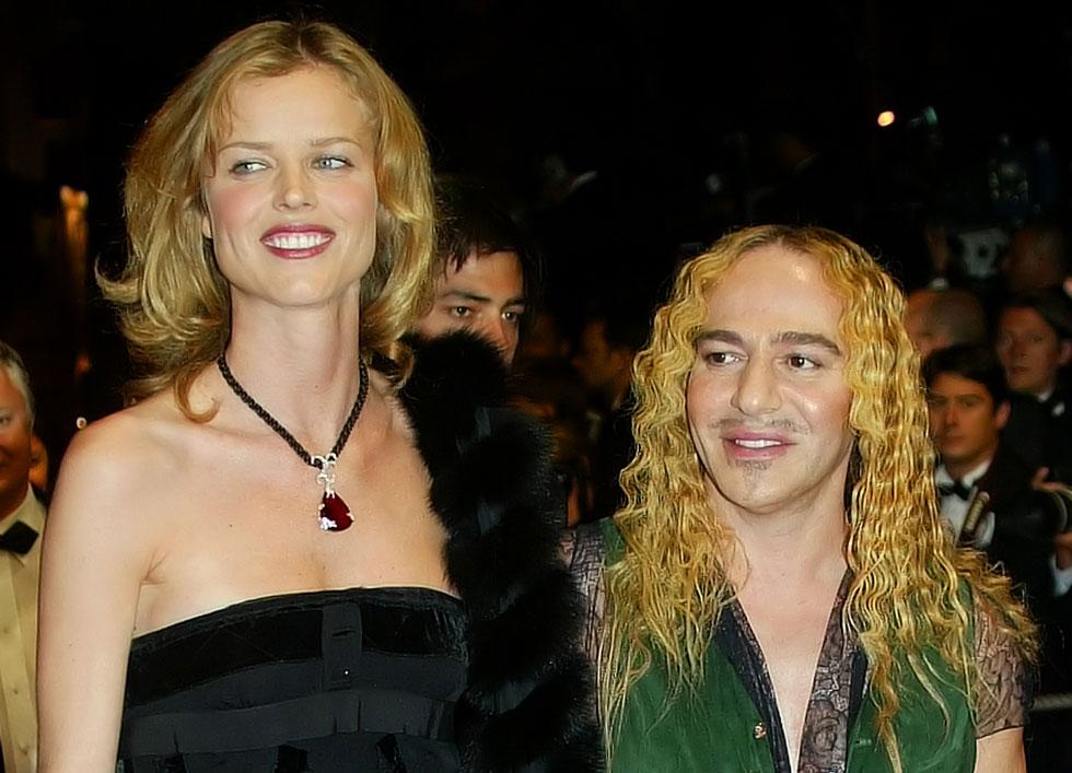 בפסטיבל קאן 2005, עם ג'ון גליאנו (צילום: AP)