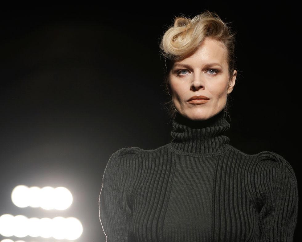 בשבוע האופנה מילאנו: על מסלול תצוגת סתיו-חורף 2017-18 של בוטגה ונטה (צילום: AP)