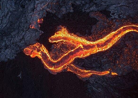צילומים מאותו אזור בהוואי - ממבט על (צילום: ארז מרום)