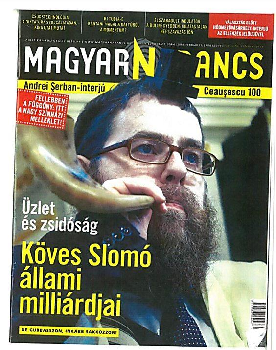 שער העיתון ההונגרי בכיכובו של כובש ()