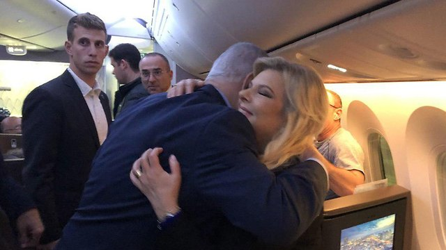 שרה נתניהו בנימין נתניהו מטוס שליחות גואטמלה ()