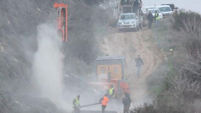 Обезвреживание туннеля Хизбаллы. Снимок сделан с ливанской стороны границы