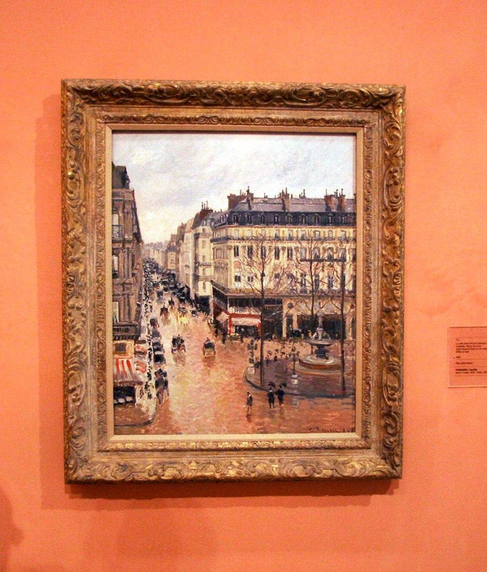 'Rue St.-Honore, Apres-Midi, Effet de Pluie' on display in the Thyssen-Bornemisza Museum in Madrid (Photo: TNS)