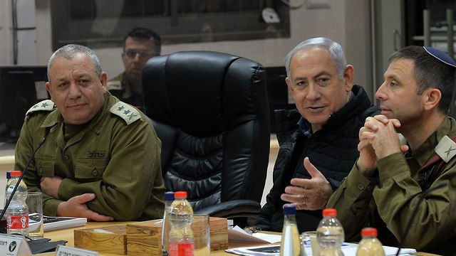 PM Netanyahu and IDF Chief of Staff Gadi Eisenkot  (Photo: Kobi Gideon/GPO)