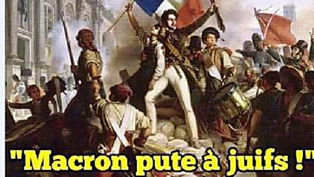 """Macron -whore of the Jews"""