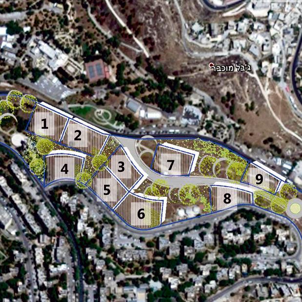 Planes para el complejo diplomático en Jerusalén.