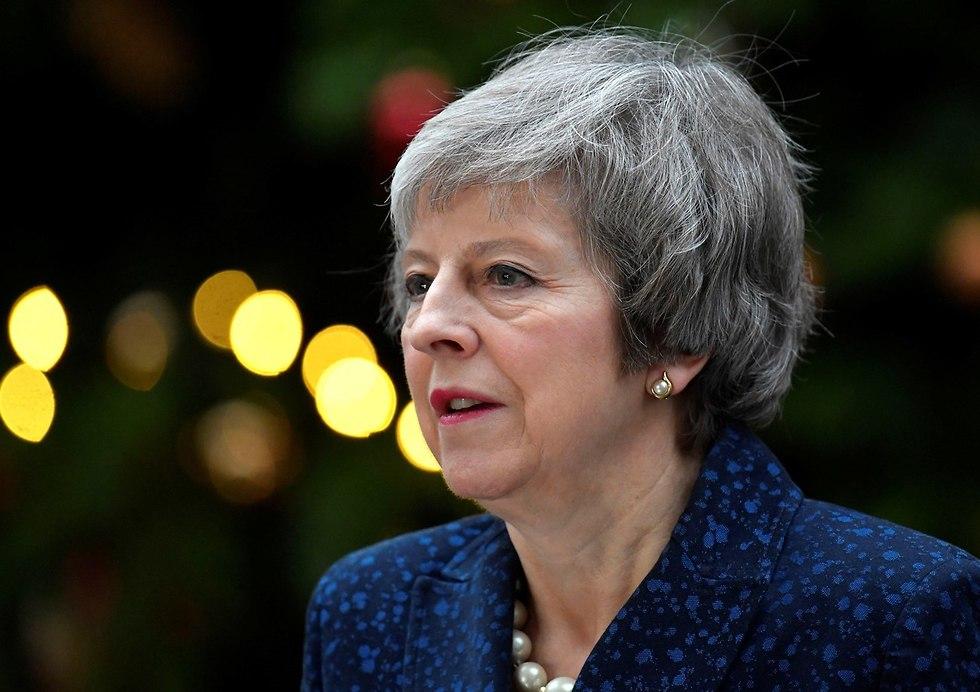 ראש ממשלת בריטניה תרזה מיי הצהרה לפני הצבעת אי אמון (צילום: רויטרס)