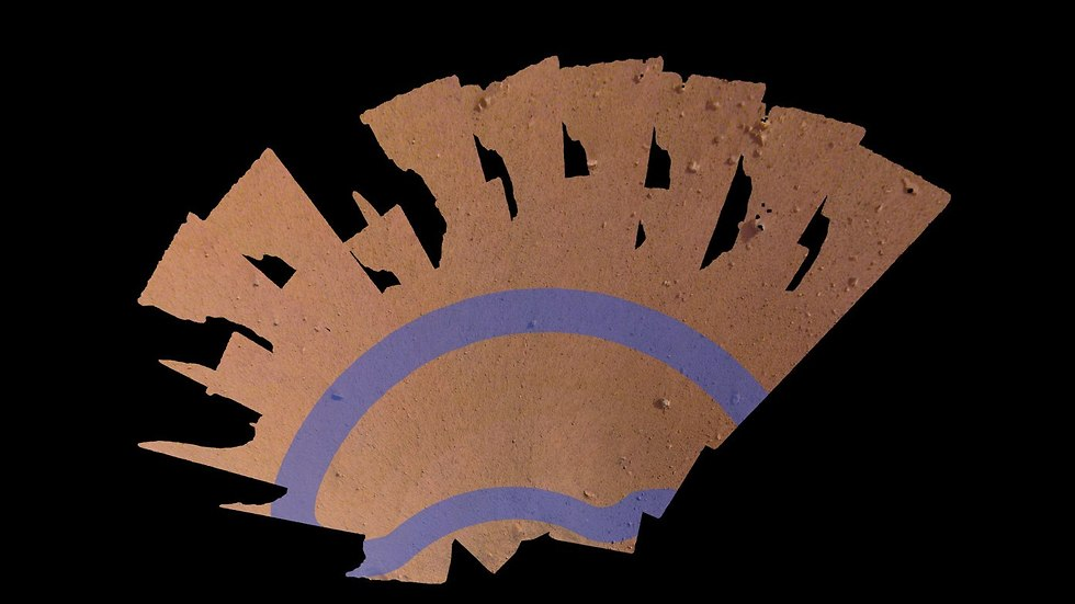 השטח שאותו חוקרת הנחתת (צילום: נאס