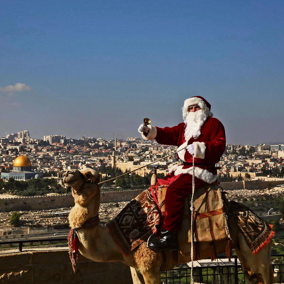 Иерусалимский Санта-Клаус. Фото: Гали Тивон