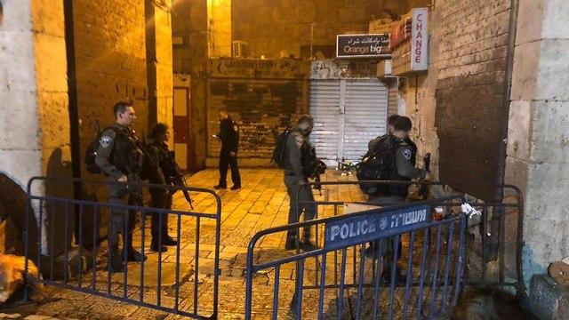 Scene of the attack in Jerusalem's Old City (Photo: Israel Police)