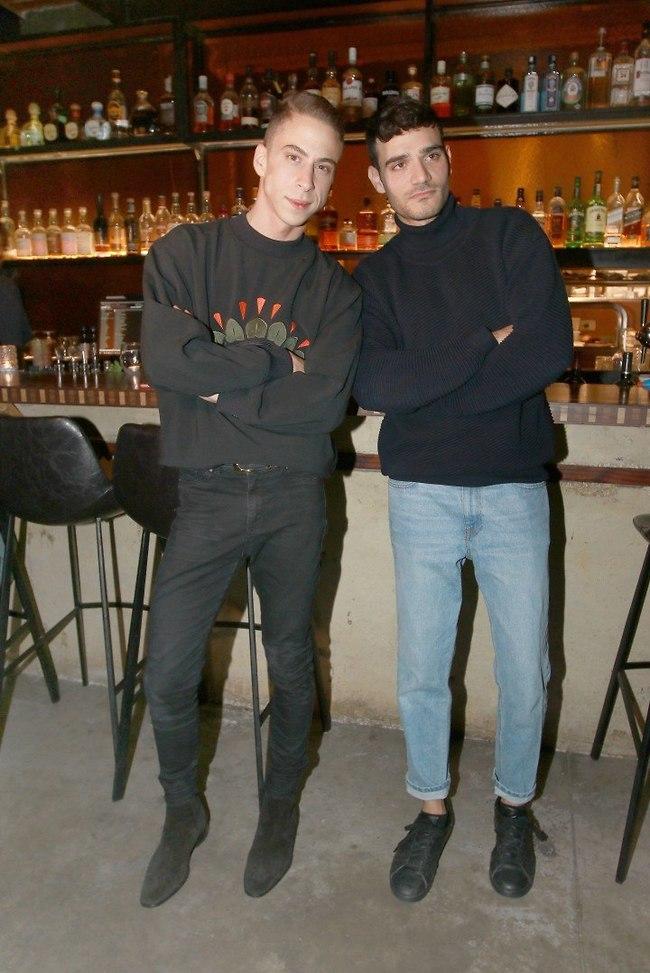 גברים בשחור? טום באום ואלון ליבנה (צילום: ענת מוסברג)