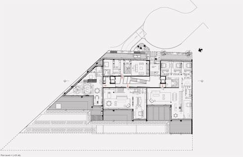 אחת מקומות המגורים (תוכנית: גוטסמן שמלצמן אדריכלות)