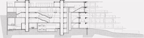 חתך הבניין (תוכנית: גוטסמן שמלצמן אדריכלות)