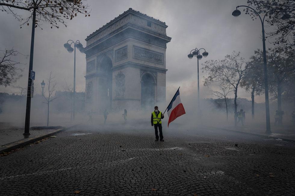 כוחו של צבע. מפגין בפריז, דצמבר 2018 (צילום: Veronique de Viguerie/GettyimagesIL)