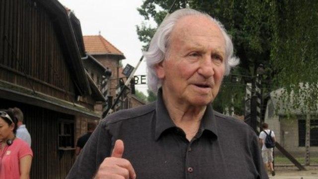 Noah Klieger returning to Auschwitz, decades after liberation