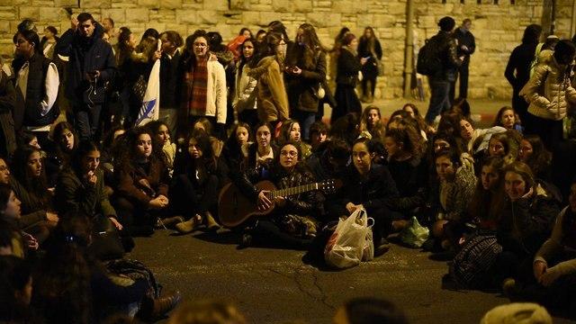 Акция протеста в Иерусалиме. Фото: Йоав Дудкевич