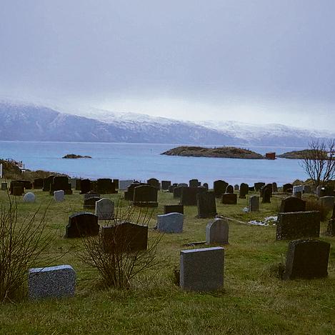 האי הקטן והנטוש סקארוור, שבו נותרו רק כנסייה ומצבות