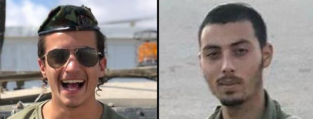 Sgt. Yosef Cohen (left) and Staff Sgt. Yovel Moryosef were killed December 13, 2018 in a West Bank drive-by shooting