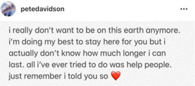 ההודעה המטרידה שדיווידסון פרסם