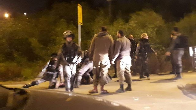 Netzah Yehuda soldiers clashing with Border Police, December 2018